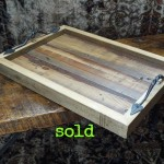 Reclaimed Floorboard Tray With Hand Forged Handles
