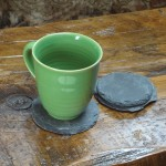 Reclaimed Slate Shingle Coasters