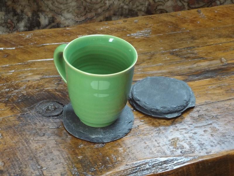Reclaimed Slate Shingle Coasters