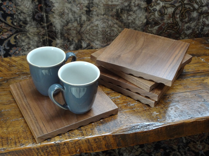 Reclaimed Walnut Floorboard Trivet