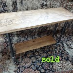 Double Decker Walnut Console Table