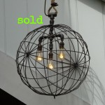 Large Metal Sphere Pendant Light