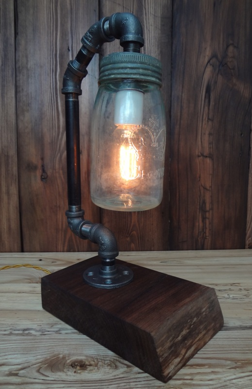 Mason Jar Light with Yellow Cord