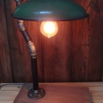 Rustic Green Industrial Light